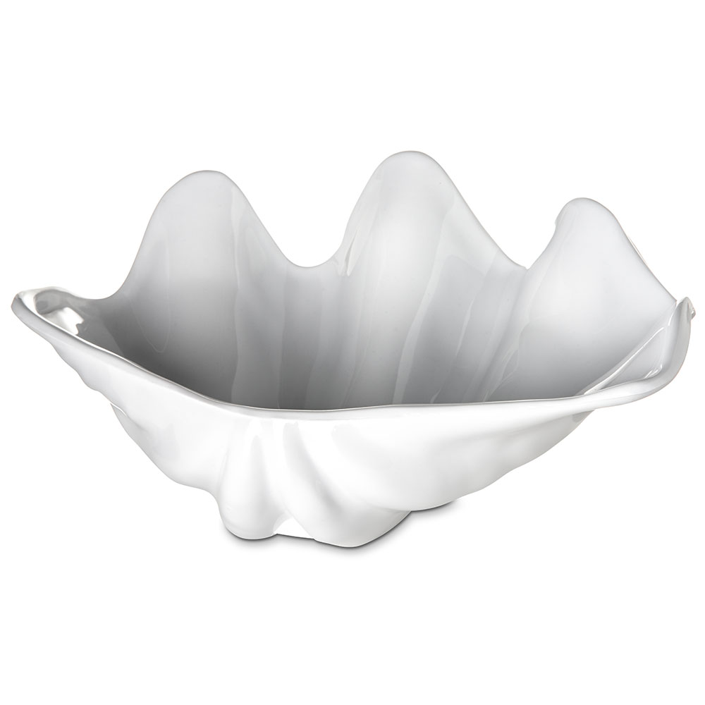 "Carlisle 034002 22-oz Buffet Clam Shell - 11x7"" White"