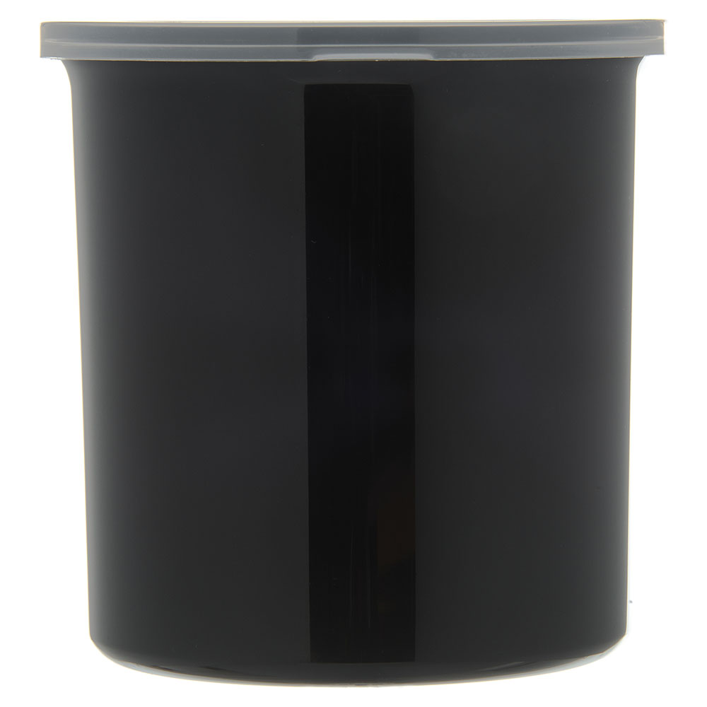 Carlisle 034103 1.2-qt Poly-Tuf Crock - Snap-On Lid, Translucent/Black