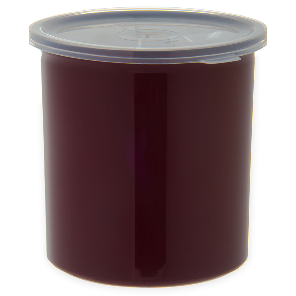 Carlisle 034101 1.2-qt Poly-Tuf Crock - Snap-On Lid, Translucent/Brown