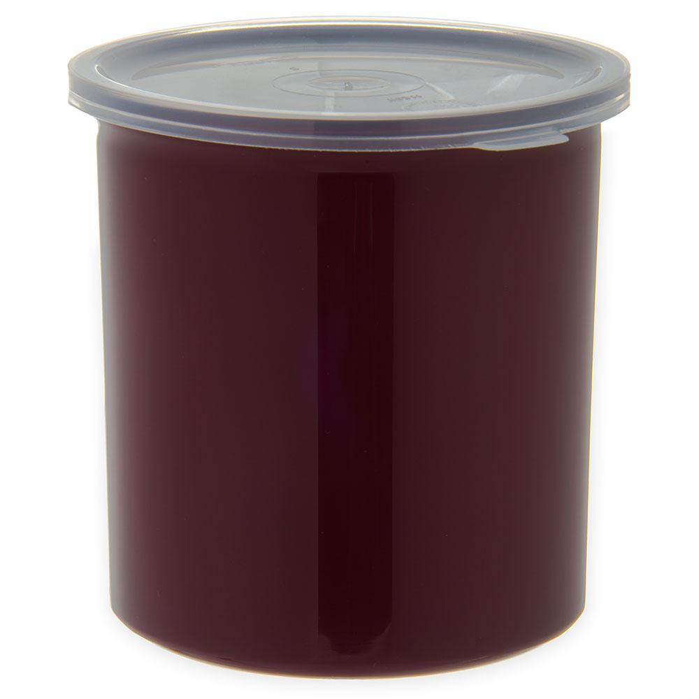 Carlisle 034101 1.2-qt Poly-Tuf Crock - Snap-On Lid, Translucent/Brown
