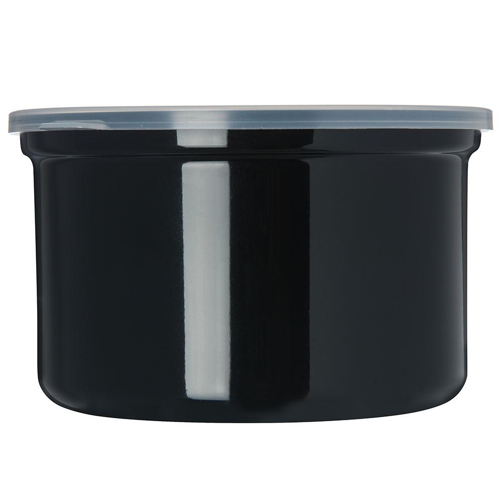 Carlisle 034303 1.5-qt Poly-Tuf Crock - Snap-On Lid, Translucent/Black