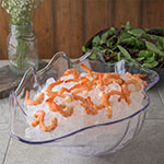 "Carlisle 034407 5-qt Buffet Clam Shell - 19x12-7/8"" Clear"