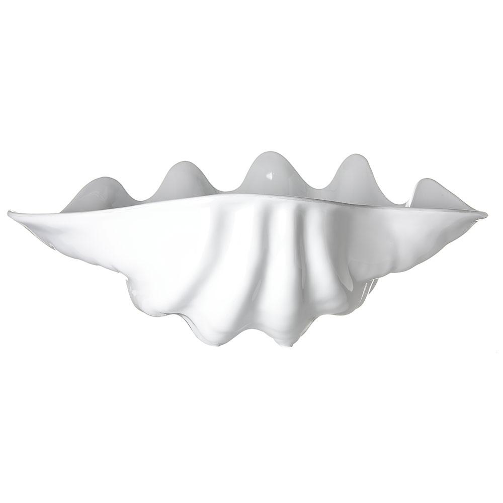 "Carlisle 034402 5-qt Buffet Clam Shell - 19x12-7/8"" White"
