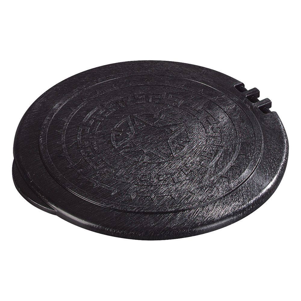"Carlisle 070003 7"" Tortilla Server Hinged Lid - Black"
