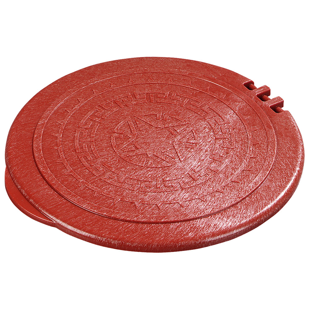"Carlisle 070029 7"" Tortilla Server Hinged Lid - Terra Cotta"