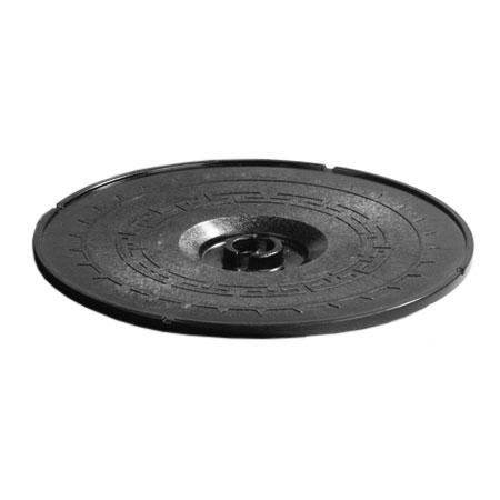 "Carlisle 070703 12"" Tortilla Server Lid - Lift-Off Style, Black"