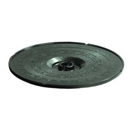 "Carlisle 070708 12"" Tortilla Server Lid - Lift-Off Style, Green"