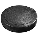 "Carlisle 071003 7"" Tortilla Server with Lid - Black"