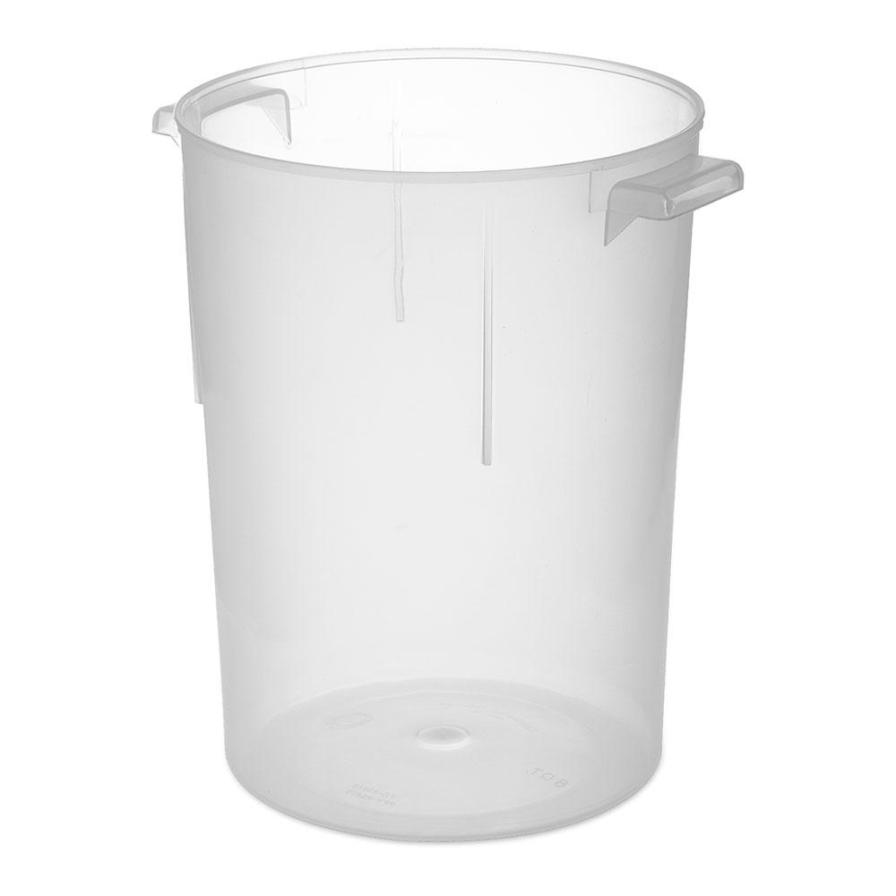 Carlisle 080530 8-qt Round Bain Marie Container - Translucent