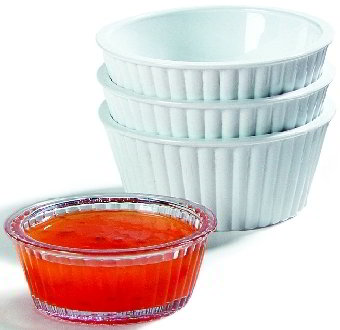 Carlisle 084328 1-oz Fluted Ramekin, Brown