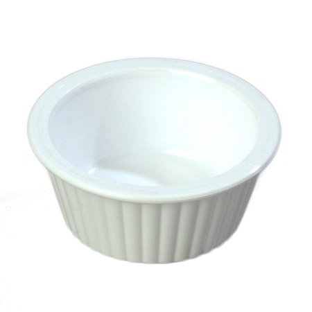 Carlisle 084302 1-oz Fluted Ramekin, White