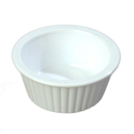 Carlisle 084302 1-oz Fluted Ramekin, White