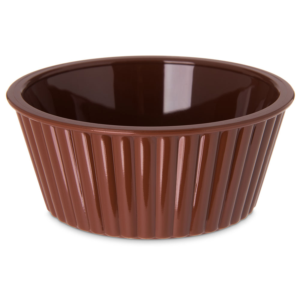 Carlisle 084528 4-1/2-oz Fluted Ramekin - Brown