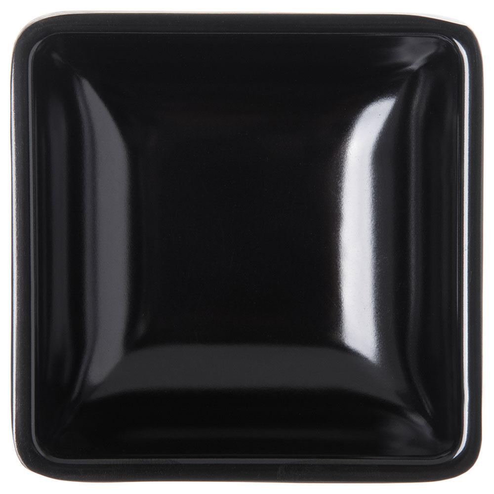 Carlisle 086003 2-oz Square Ramekin - Melamine, Black