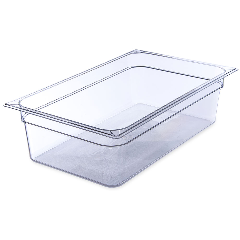 "Carlisle 10202B07 Full Size Food Pan - 6""D, Clear"