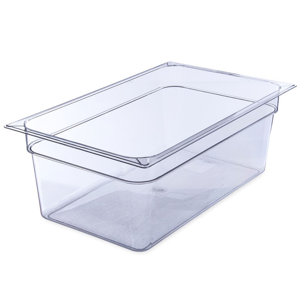 "Carlisle 10203B07 Full Size Food Pan - 8""D, Clear"