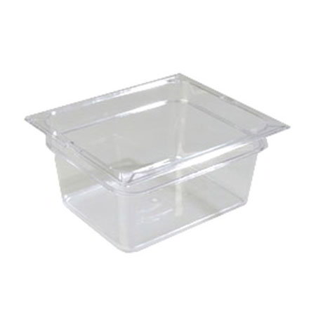 "Carlisle 10222-807 Half Size Food Pan - 6""D, 3/pk, Clear"