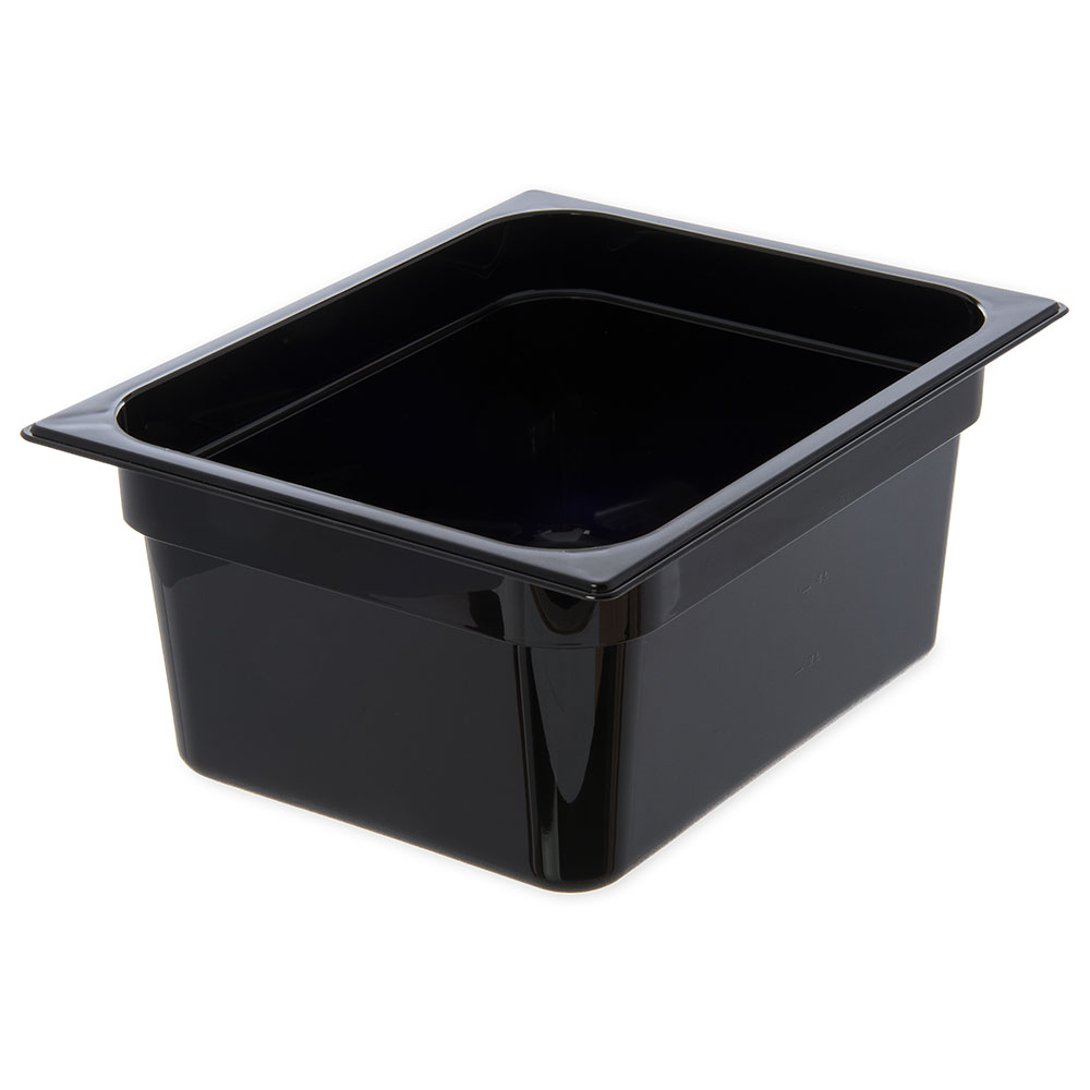 "Carlisle 10222B03 Half Size Food Pan - 6""D, Black"