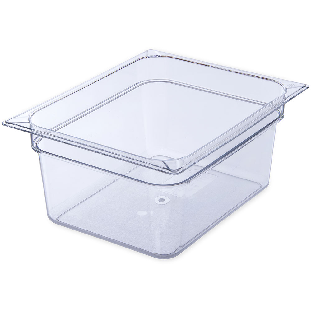 "Carlisle 10222B07 Half Size Food Storage Container - 6""D, Clear"