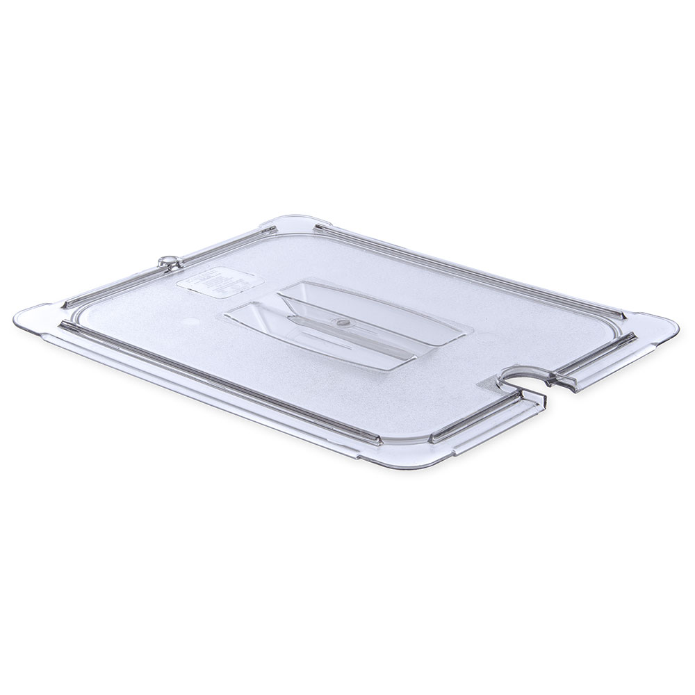 Carlisle 10231U07 Universal Half Size Food Pan Notched Lid - Clear