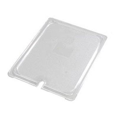 Carlisle 10237U07 Universal Half Size Food Pan Lid - Flat, Notched, Clear