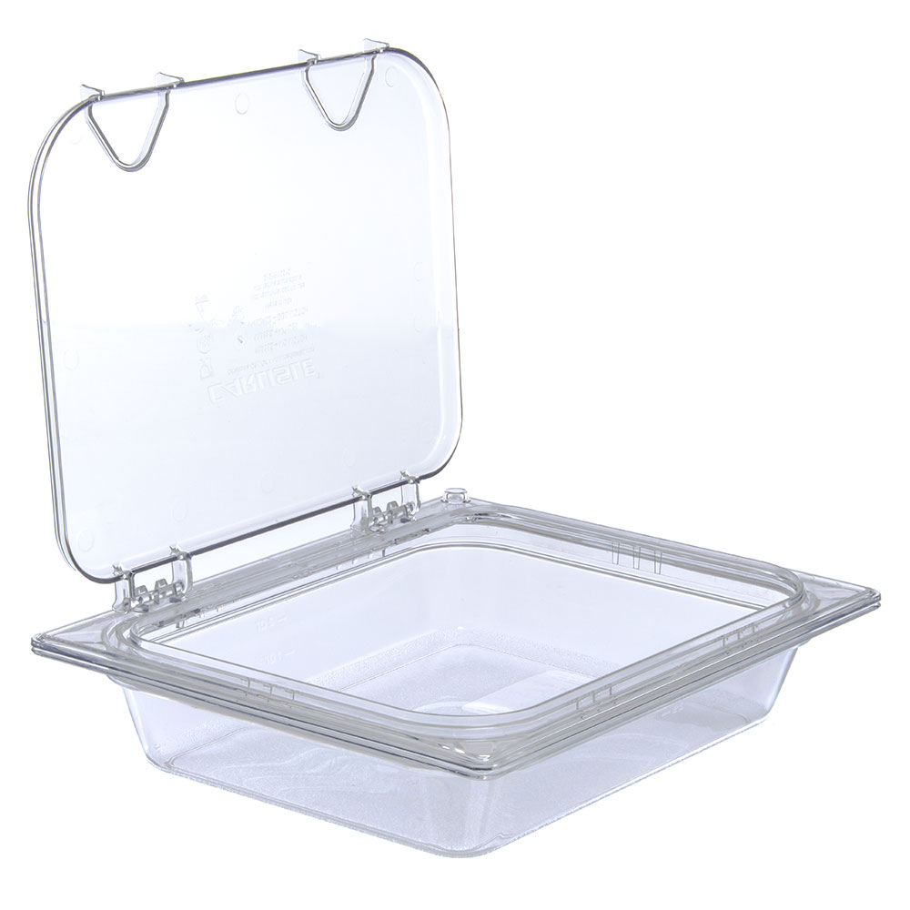 Carlisle 10238Z07 Universal Half-Size Hinged Food Pan Lid - Polycarbonate, Clear