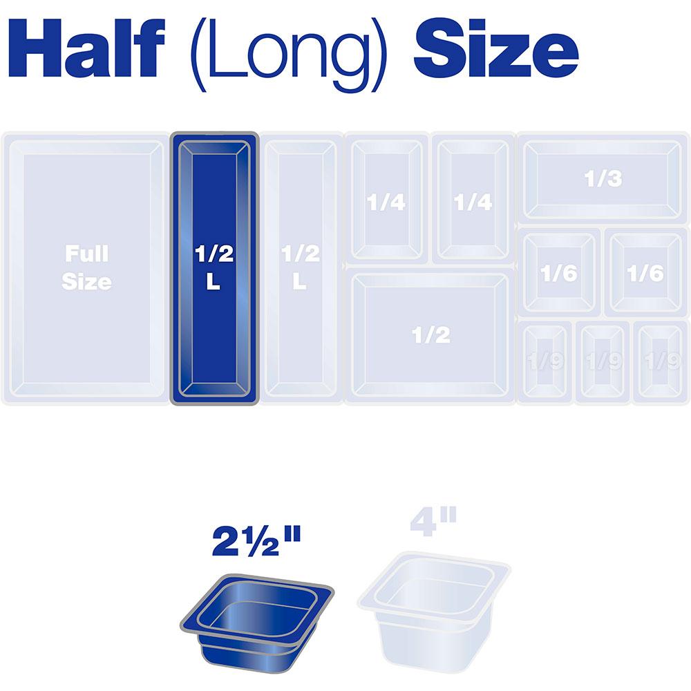 "Carlisle 10240B07 Half Size-Long Food Pan - 2-1/2""D, Clear"