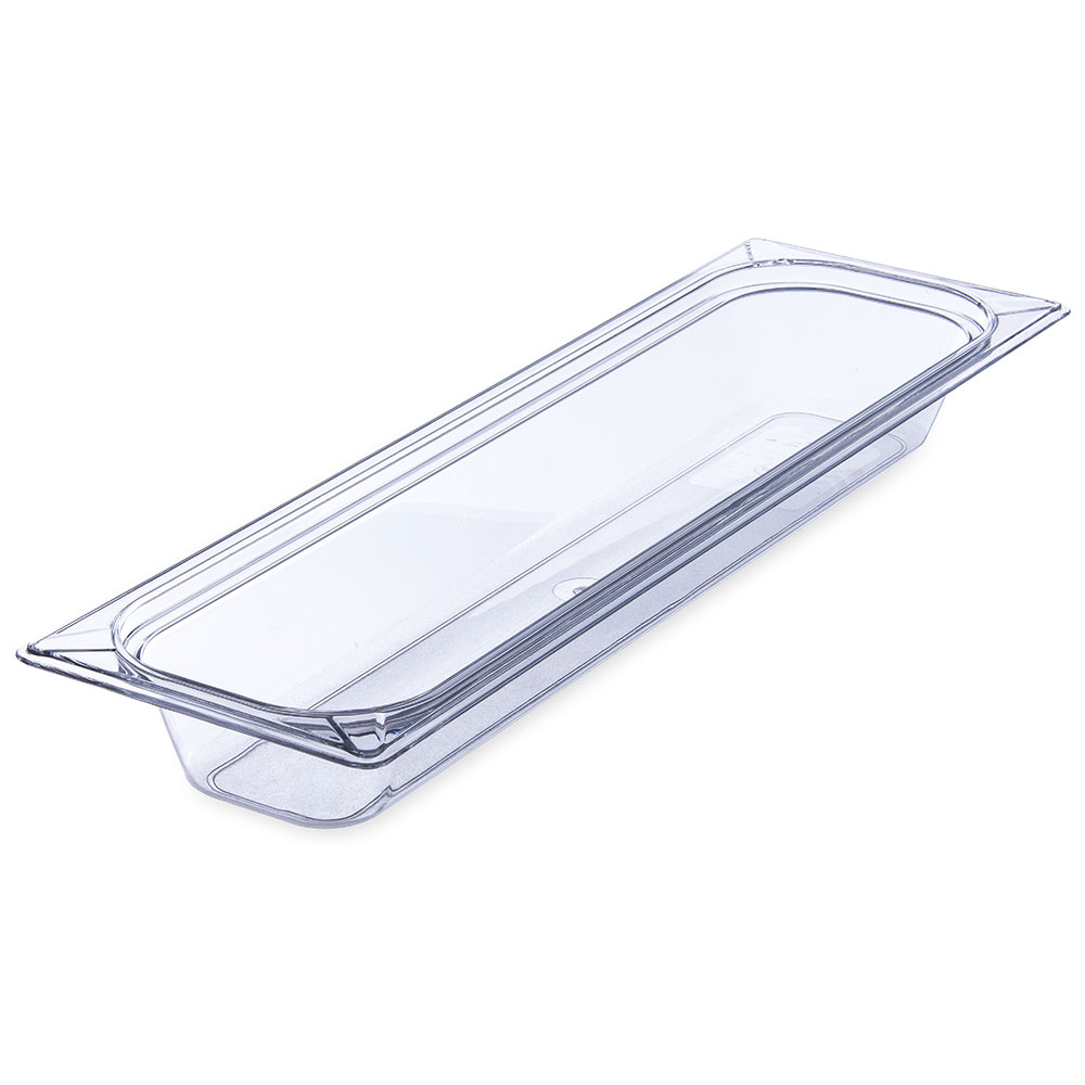 "Carlisle 10240B07 Half Size-Long Food Pan - 2-1/2""D, Clear"