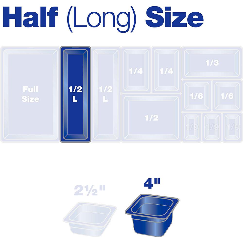 "Carlisle 10241B07 Half Size-Long Food Pan - 4""D, Clear"
