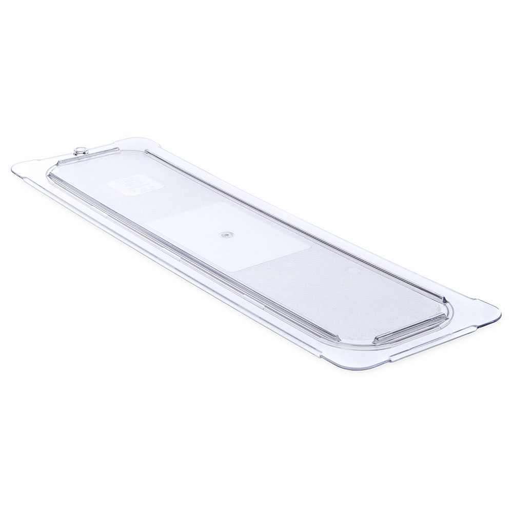 Carlisle 10256U07 Universal Half Size-Long Food Pan Lid - Flat, Clear