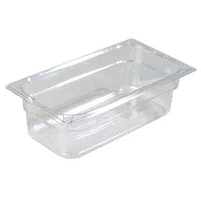 "Carlisle 1026107 1/3 Size Food Pan - 4""D, Clear"