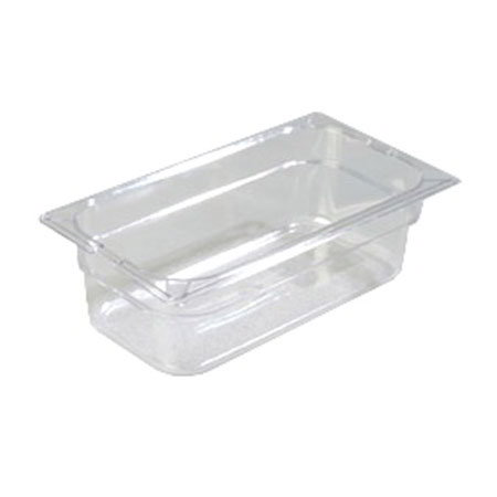 "Carlisle 10261-807 1/3 Size Food Pan - 4""D, (3/Pk) Clear"