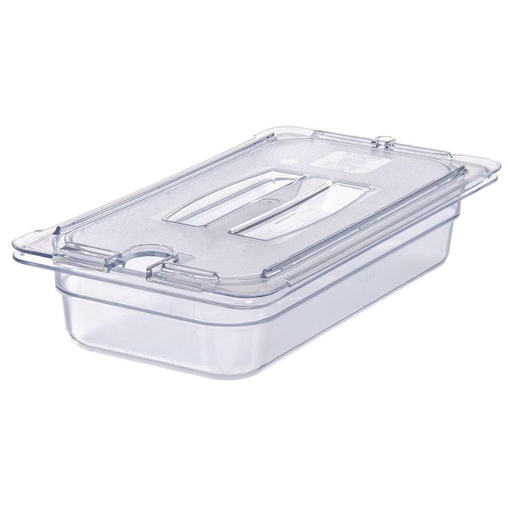 Carlisle 10271U07 Universal 1/3 Size Food Pan Notched Lid - Clear
