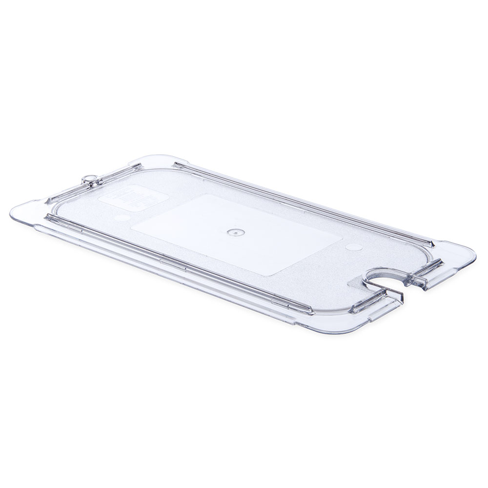 Carlisle 10277U07 Universal 1/3 Size Food Pan Lid - Flat, Notched, Clear
