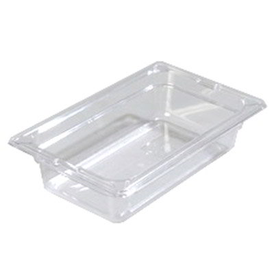 "Carlisle 10280-807 1/4 Size Food Pan - 2-1/2""D, (3/Pk) Clear"