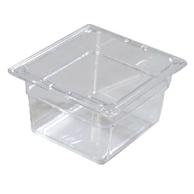 "Carlisle 1030107 1/6 Size Food Pan - 4""D, Clear"