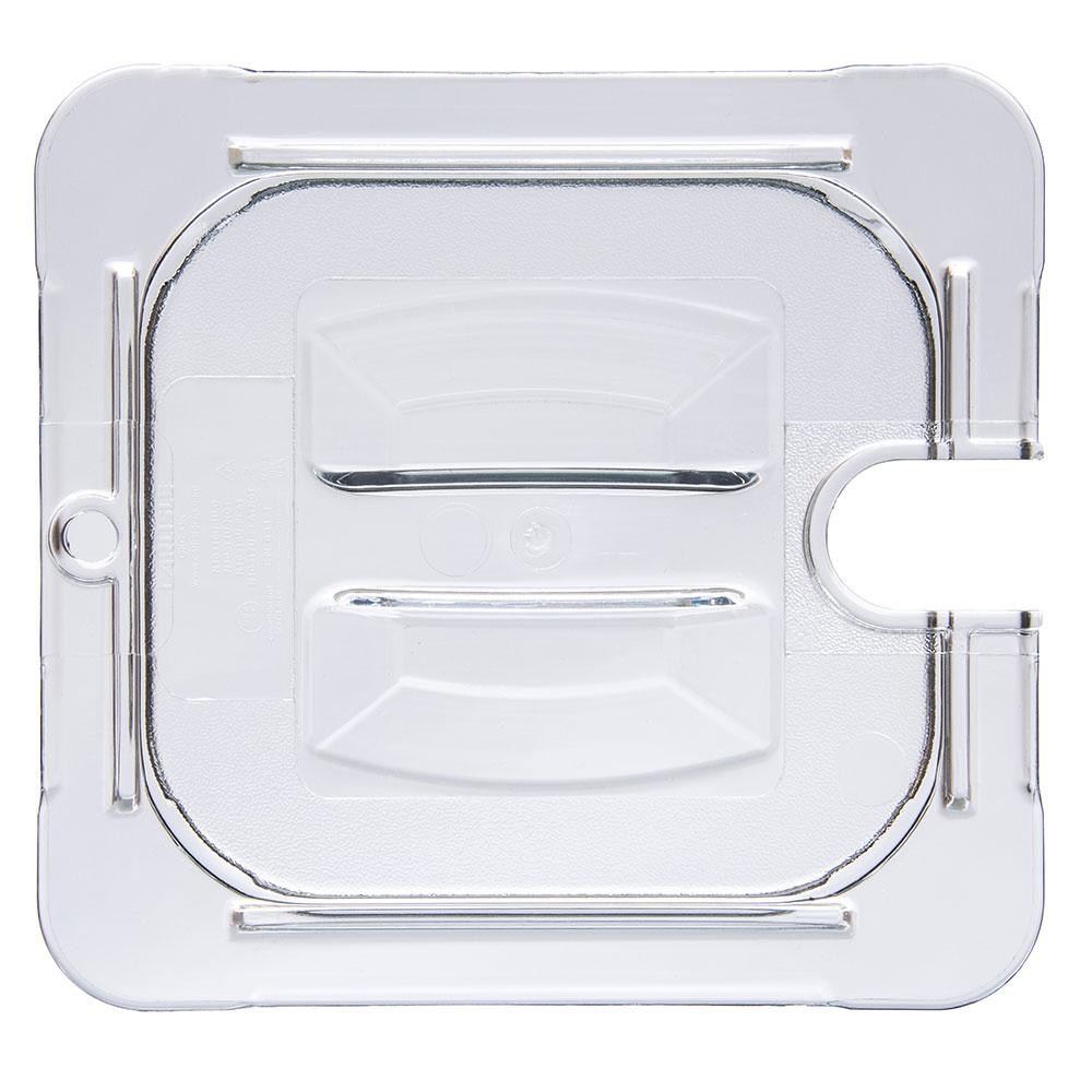 Carlisle 10311U07 Universal 1/6 Size Food Pan Notched Lid - Clear