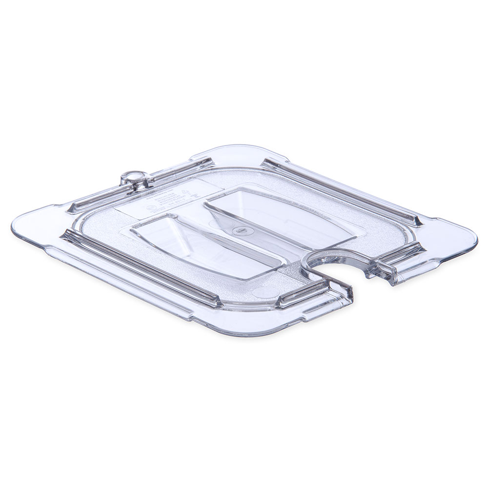 Carlisle 10311U07 Universal 1/6 Size Food Pan Notched Lid - Clear