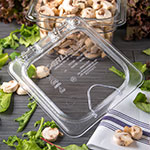 Carlisle 10318Z07 Universal Sixth-Size Hinged Food Pan Lid - Polycarbonate, Clear