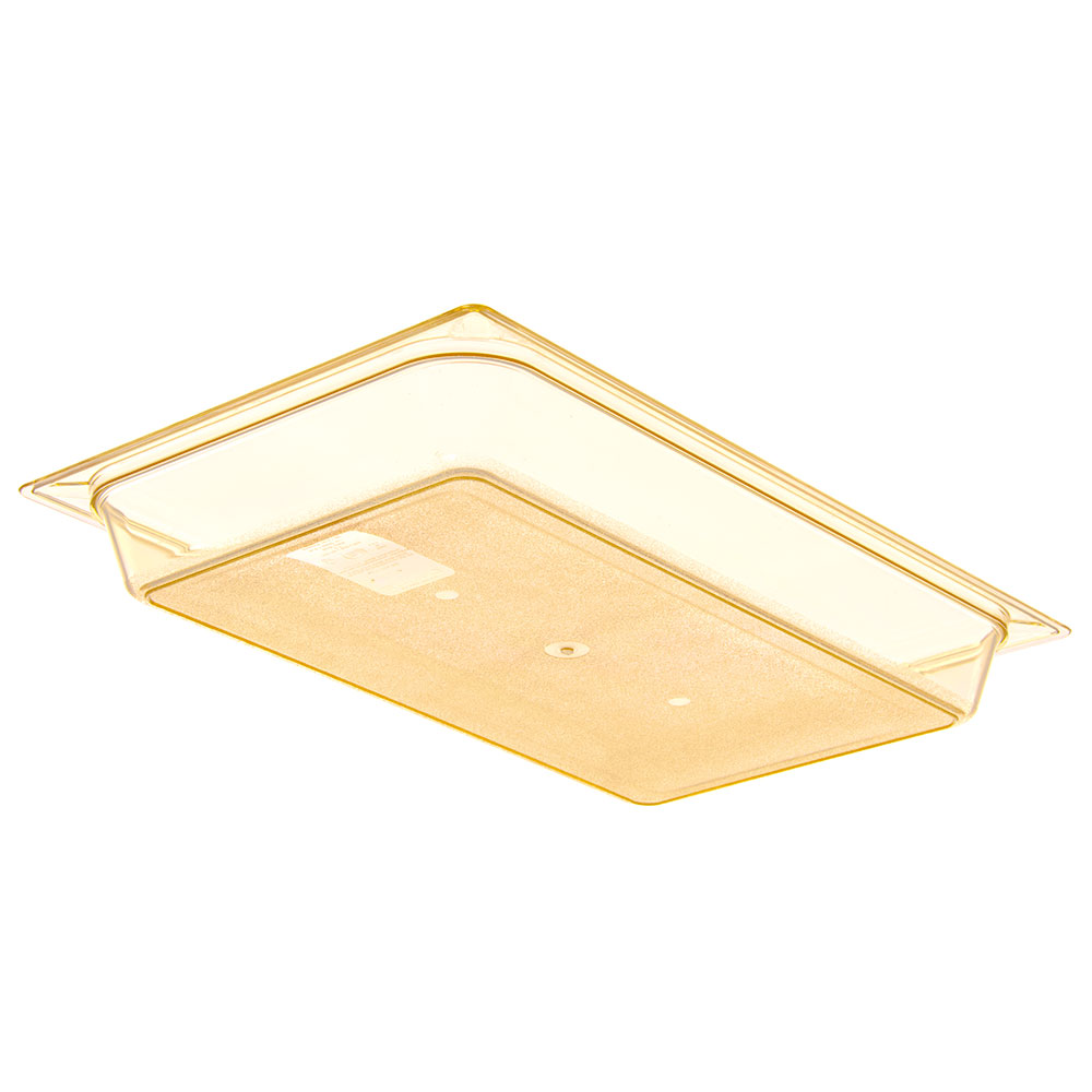"Carlisle 10400B13 StorPlus High Heat Food Pan - Full Size, 2.5""D, Amber"