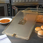 Carlisle 10411U13 Universal Full Size High Heat Food Pan Notched Lid - Amber