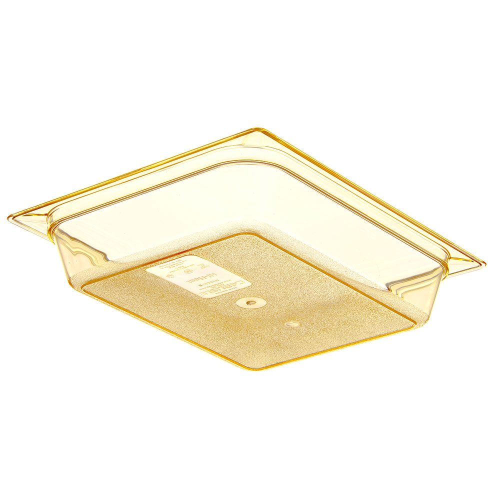 "Carlisle 10420B13 High Heat Half Size Food Pan - 2-1/2""D, Amber"