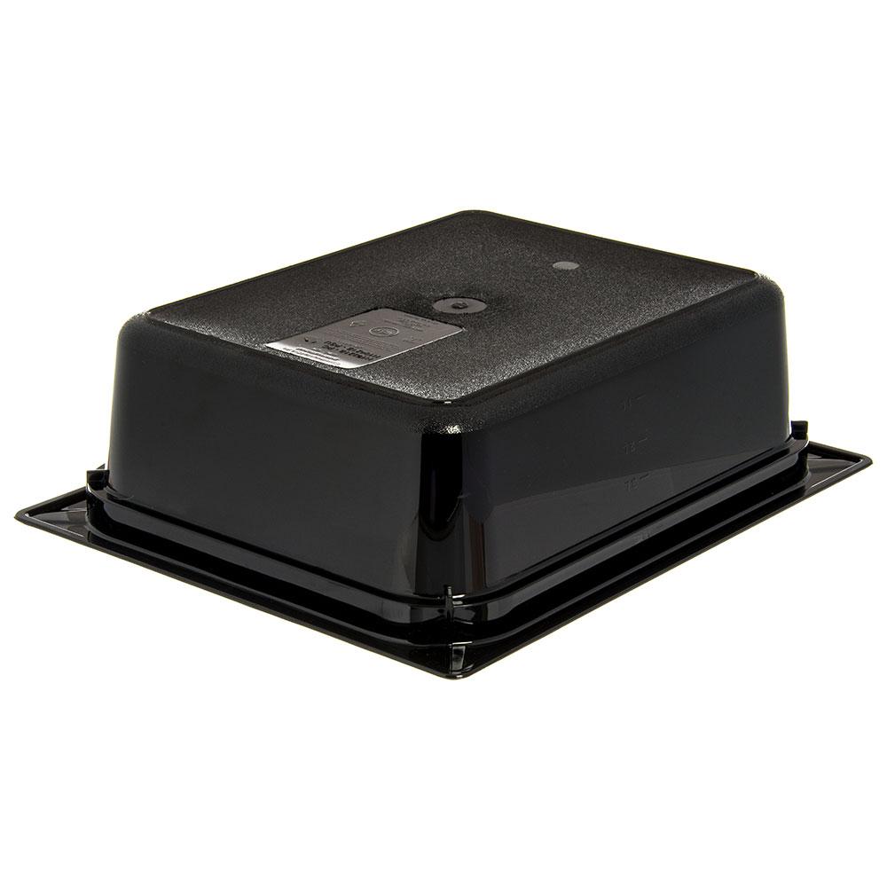 "Carlisle 10421B03 StorPlus High Heat Food Pan - 1/2 Size, 4""D, Black"
