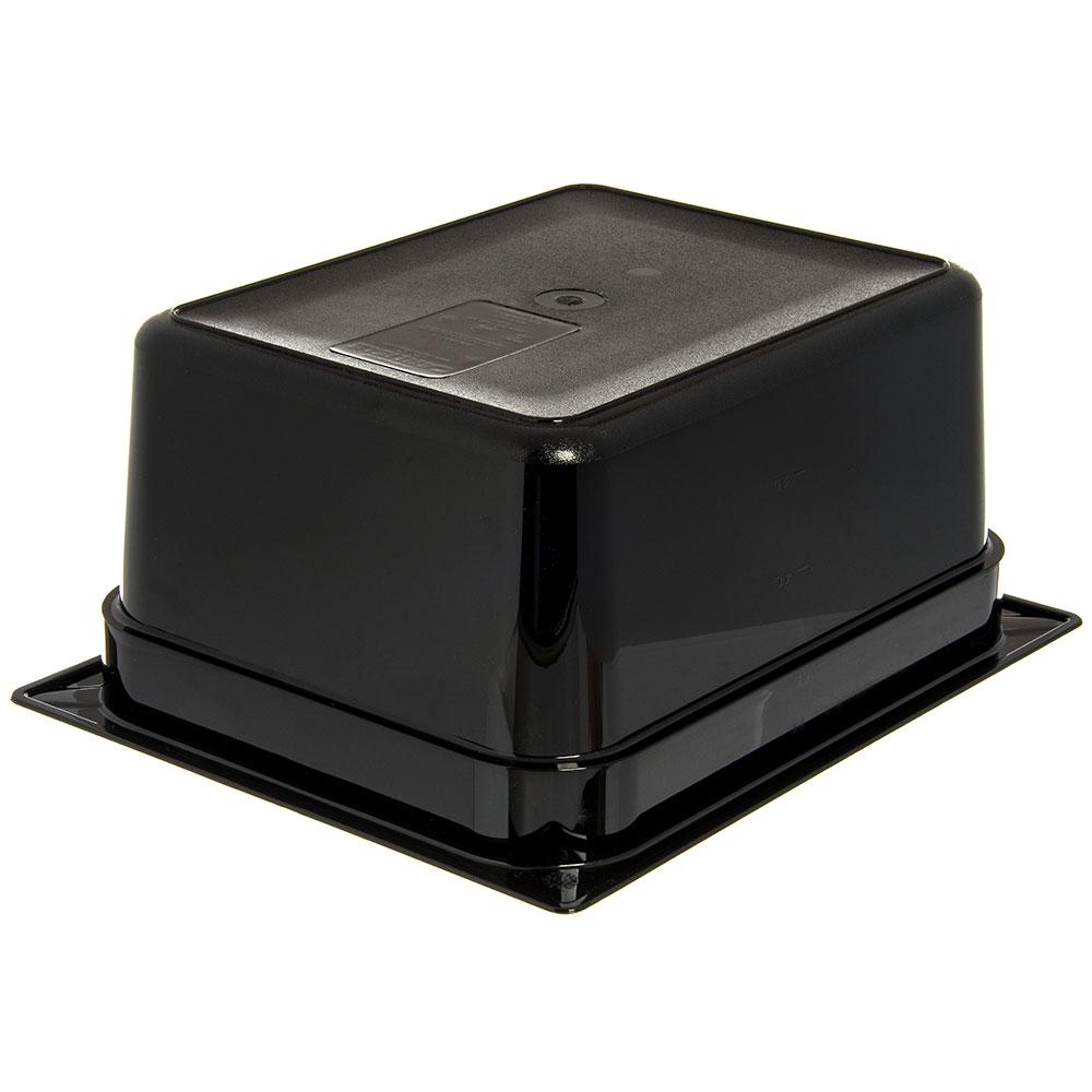 "Carlisle 10422B03 StorPlus High Heat Food Pan - 1/2 Size, 6""D, Black"