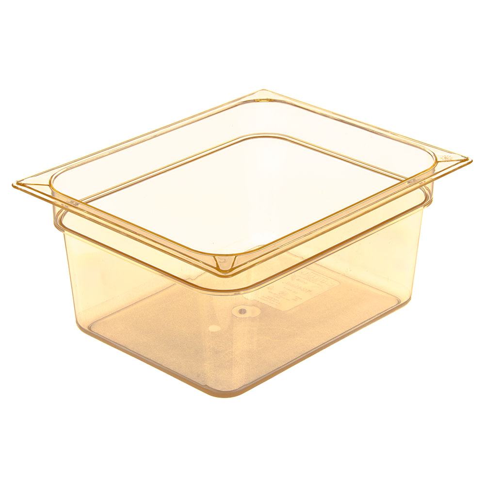 "Carlisle 10422B13 High Heat Half Size Food Pan - 6""D, (6/Pk) Amber"