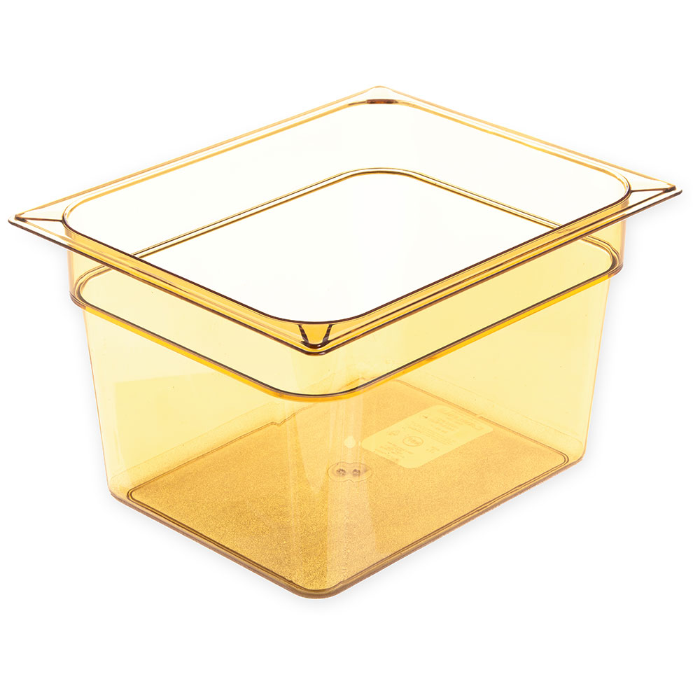 "Carlisle 10423B13 StorPlus High Heat Food Pan - 1/2 Size, 8""D, Amber"