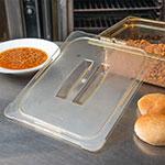 Carlisle 10430U13 Universal Half Size High Heat Food Pan Solid Lid - Amber