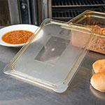 Carlisle 10436U13 Universal Half Size High Heat Food Pan Lid - Flat, Amber
