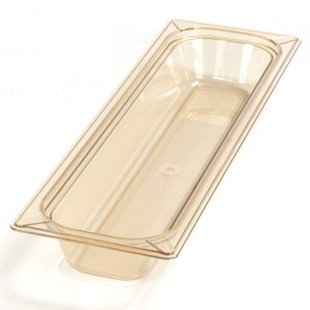 "Carlisle 1044013 High Heat Half Size-Long Food Pan - 2-1/2""D, Amber"