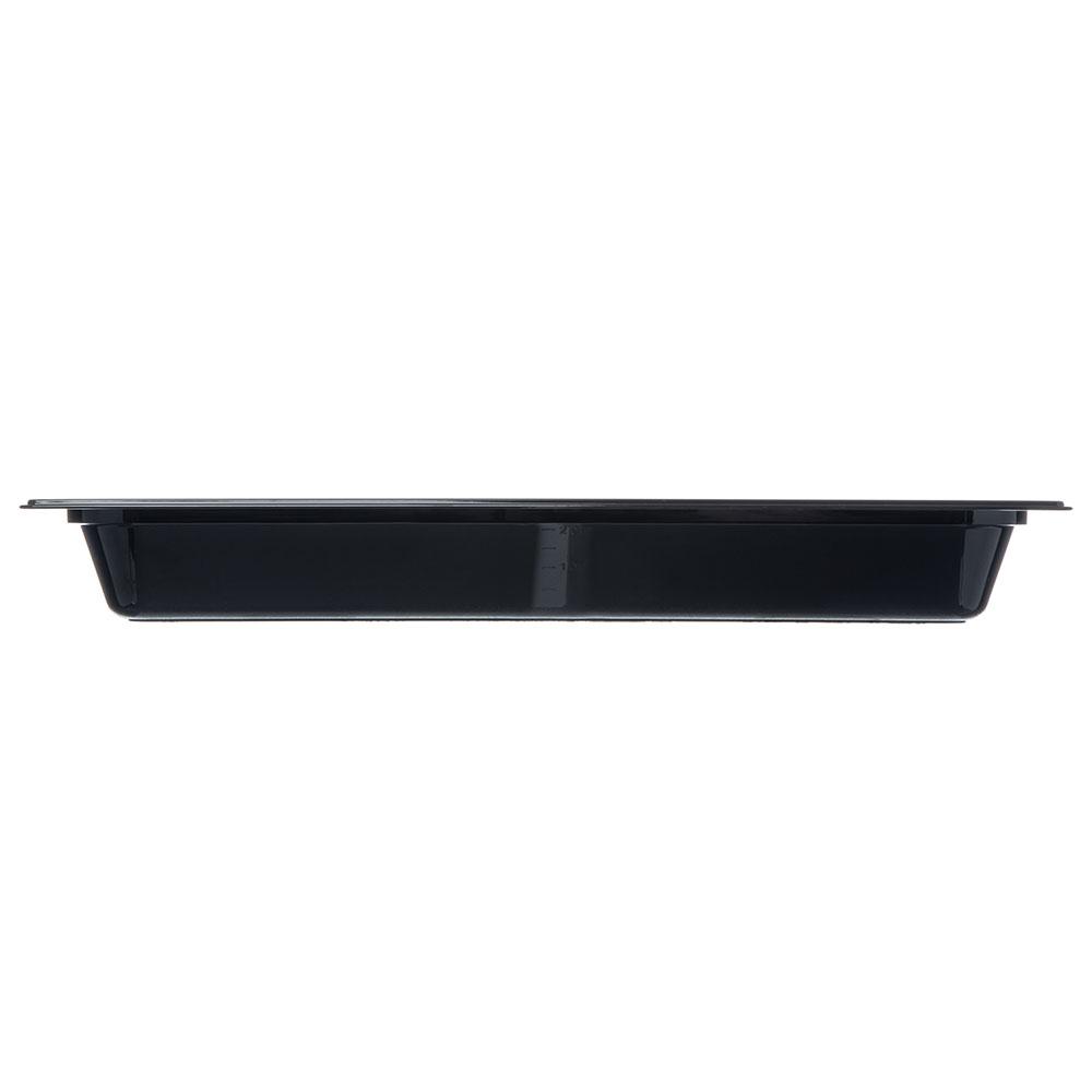 "Carlisle 10440B03 StorPlus High Heat Long Food Pan - 1/2 Size, 2.5""D, Black"
